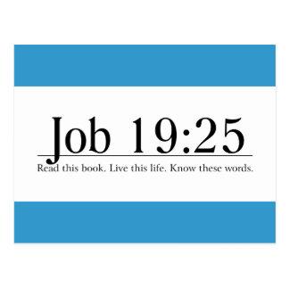 Lea el 19 25 del trabajo de la biblia tarjeta postal