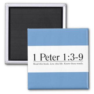 Lea el 1:3 de Peter de la biblia 1 - 9 Imanes Para Frigoríficos