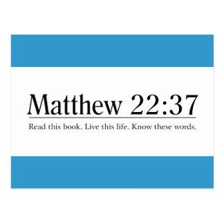 Lea el 22:37 de Matthew de la biblia Postal