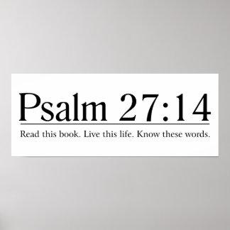 Lea el 27:14 del salmo de la biblia póster