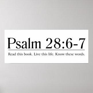 Lea el 28:6 del salmo de la biblia - 7 póster