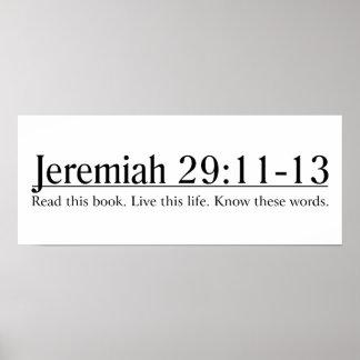 Lea el 29:11 de Jeremiah de la biblia - 13 Póster