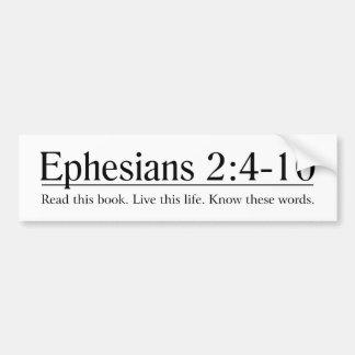 Lea el 2:4 de Ephesians de la biblia - 10 Pegatina Para Auto