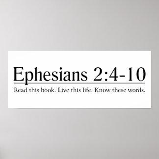 Lea el 2:4 de Ephesians de la biblia - 10 Póster