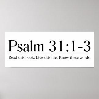 Lea el 31 1 del salmo de la biblia - 3 posters