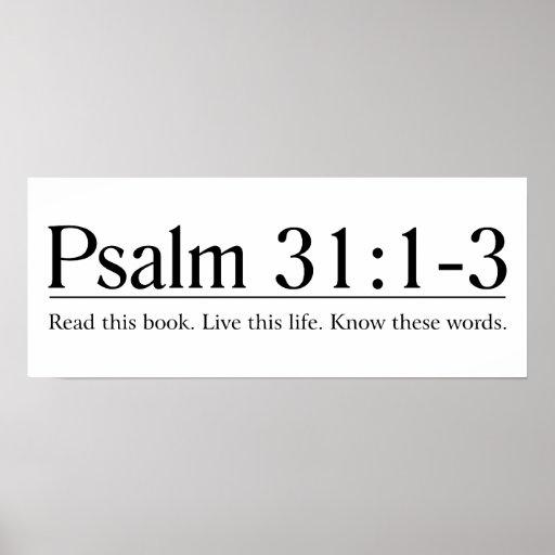 Lea el 31:1 del salmo de la biblia - 3 posters