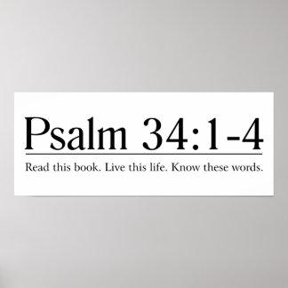 Lea el 34:1 del salmo de la biblia - 4 poster