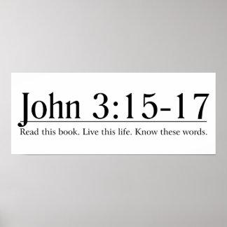 Lea el 3:15 de Juan de la biblia - 17 Póster