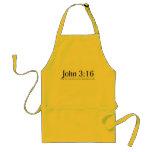 Lea el 3:16 de Juan de la biblia Delantales