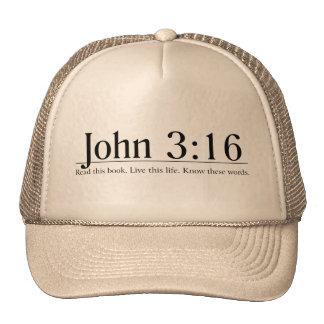 Lea el 3:16 de Juan de la biblia Gorros Bordados