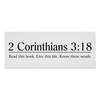 Lea el 3:18 de los Corinthians de la biblia 2 Póster