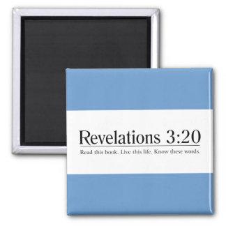 Lea el 3:20 de las revelaciones de la biblia imanes