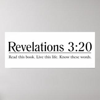 Lea el 3:20 de las revelaciones de la biblia poster
