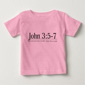 Lea el 3:5 de Juan de la biblia - 7 Playera De Bebé