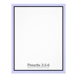 Lea el 3 5 de los proverbios de la biblia - 6 membretes personalizados