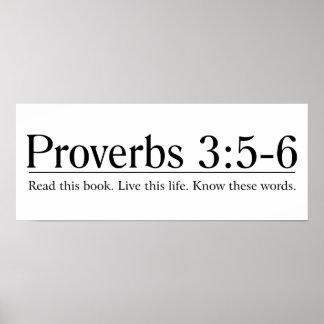 Lea el 3:5 de los proverbios de la biblia - 6 póster