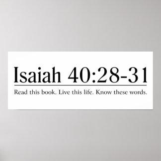 Lea el 40:28 de Isaías de la biblia - 31 Póster
