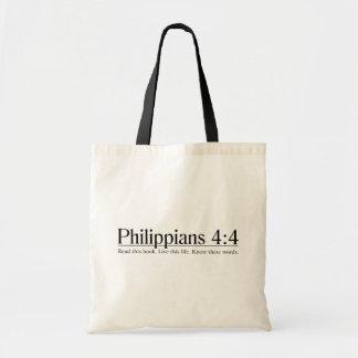 Lea el 4:4 de los filipenses de la biblia bolsa