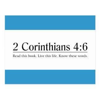 Lea el 4:6 de los Corinthians de la biblia 2 Tarjetas Postales