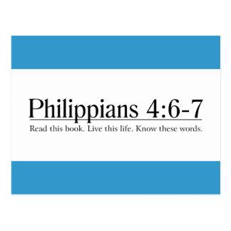 Lea el 4:6 de los filipenses de la biblia - 7 postal
