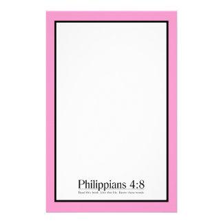 Lea el 4:8 de los filipenses de la biblia  papeleria de diseño