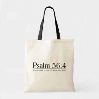 Lea el 56:4 del salmo de la biblia bolsas