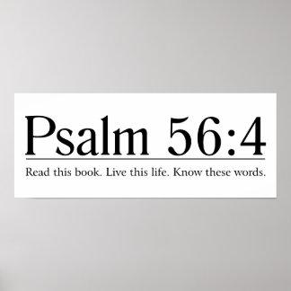 Lea el 56:4 del salmo de la biblia póster