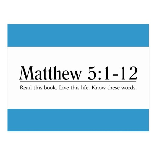 Lea el 5:1 de Matthew de la biblia - 12 Postal