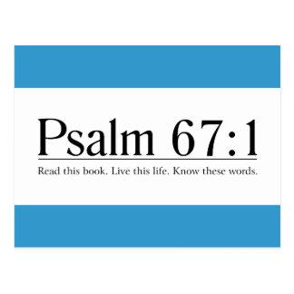 Lea el 67 1 del salmo de la biblia tarjetas postales