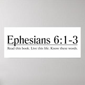 Lea el 6:1 de Ephesians de la biblia - 3 Póster