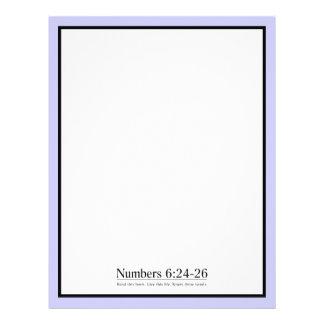 Lea el 6 24 de los números de la biblia - 26 membrete