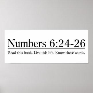 Lea el 6:24 de los números de la biblia - 26 póster