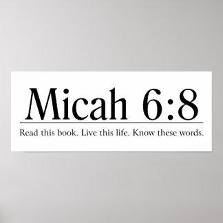 Lea el 6:8 de Micah de la biblia Póster