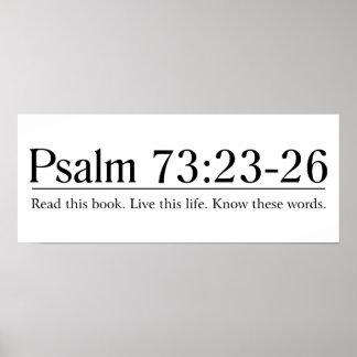 Lea el 73:23 del salmo de la biblia - 26 póster