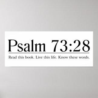 Lea el 73:28 del salmo de la biblia póster