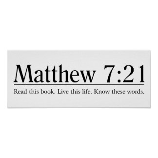 Lea el 7:21 de Matthew de la biblia Póster