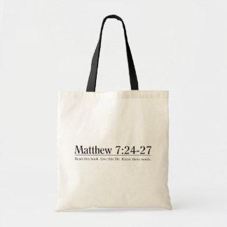 Lea el 7:24 de Matthew de la biblia - 27 Bolsa