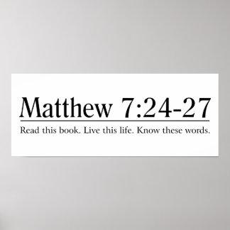 Lea el 7:24 de Matthew de la biblia - 27 Póster