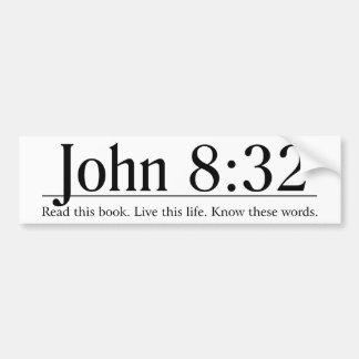 Lea el 8:32 de Juan de la biblia Pegatina Para Auto
