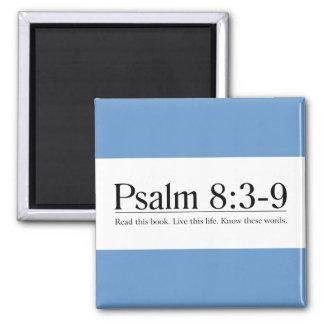 Lea el 8:3 del salmo de la biblia - 9 imán cuadrado