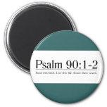 Lea el 90:1 del salmo de la biblia - 2 imán de nevera