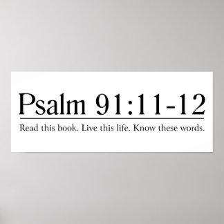 Lea el 91:11 del salmo de la biblia - 12 póster