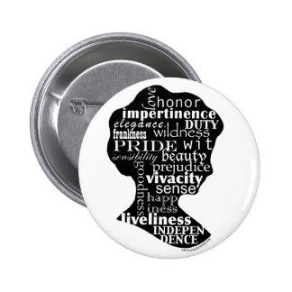 Lea el botón de Jane Austen Pin Redondo De 2 Pulgadas