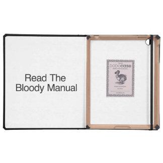 Lea el manual sangriento iPad fundas