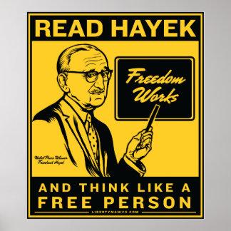 Lea el poster de Hayek