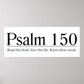 Lea el salmo 150 de la biblia póster