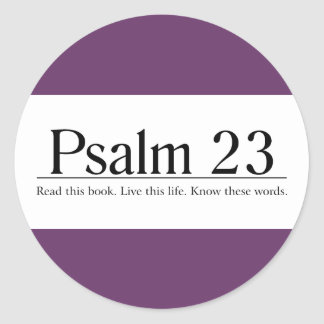 Lea el salmo 23 de la biblia pegatina redonda