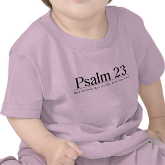 Lea el salmo 23 de la biblia camiseta