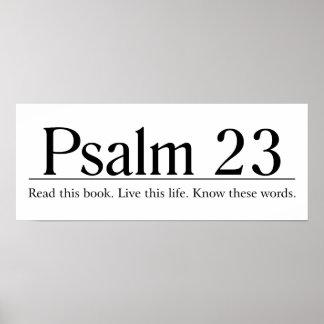 Lea el salmo 23 de la biblia póster