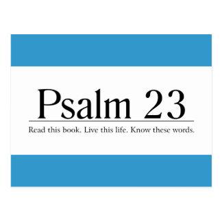 Lea el salmo 23 de la biblia tarjetas postales